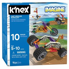 Knex K'Nex Bouwset snelle voertuigen (96 delig)