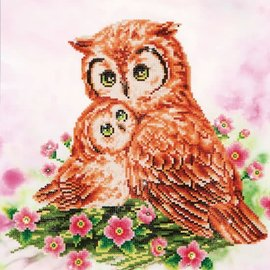 Diamont Dotz Diamond Dotz - Mother and Baby Owl (42x42)