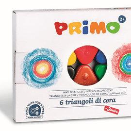 Primo Primo 6 driehoekige waskrijtjes