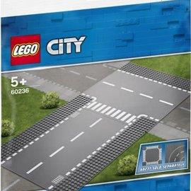 Lego Lego 60236 Rechte wegenplaten en T-kruising