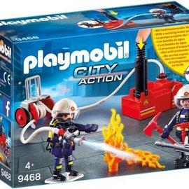 Playmobil Playmobil - Brandweerteam met waterpomp (9468)
