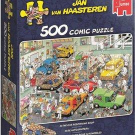Jumbo Jan van Haasteren - In de autospuiterij (500 stukjes)
