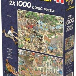 Jumbo Jan van Haasteren puzzel - De storm + Safari (2x 1000 stukjes)
