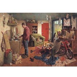 Puzzelman Marius van Dokkum puzzel - Mannenhuishouding (1000 stukjes)