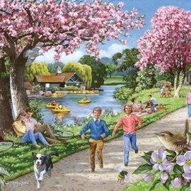 The House of Puzzles The House of Puzzles - Apple Blossom Time (500 XL stukjes)