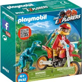 Playmobil Playmobil - Motorcrosser met Raptor (9431)