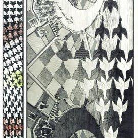 Puzzelman Puzzelman Dag en nacht - Escher (1000 stukjes)