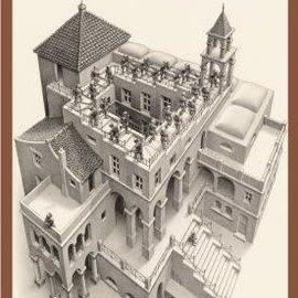 Puzzelman Puzzelman Klimmen en dalen - Escher (1000 stukjes)