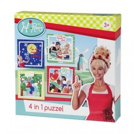 puzzel Puzzel juf Roos - 4 in 1 puzzel