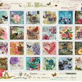 Art Puzzel Collage von Briefmarken (500 stukjes)
