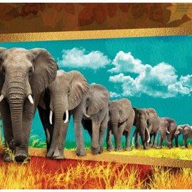 Art Puzzle Elephants (1000 stukjes)
