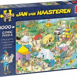 Jumbo Jan van Haasteren puzzel - Kamperen in het bos (1000 stukjes)