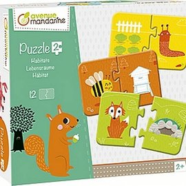 Mandarine Mandarine puzzel Habitats 2-delig (12st)