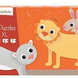 Mandarine Mandarine puzzel XL (3st)  Harige dieren