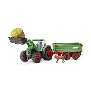 Schleich Schleich 42379 Tractor met aanhangwagen