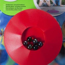 Knikkers Gekleurde knikkerpot inclusief 6 knikkers