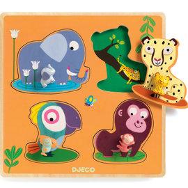Djeco Djeco 1054 Grote knoppen puzzel - Mami jungle