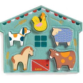 Djeco Djeco 1055 Relief puzzel - Boerderijdieren