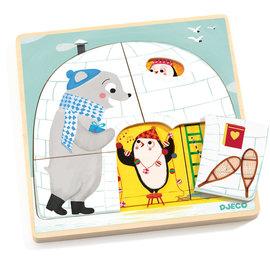 Djeco Djeco 1485 Puzzel iglo (3 lagen)