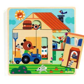 Djeco Djeco 1486 3 layers puzzel - Chez Gaby