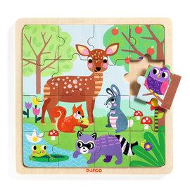 Djeco Djeco 1812 Houten puzzel - Bos