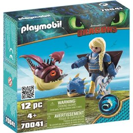 Playmobil Playmobil - Dragons Astrid in vliegpak en schrokop (70041)