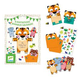 Djeco Djeco 4781 Uitnodigingskaarten Wilde Dieren (NL)