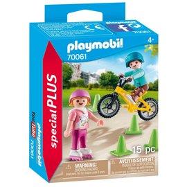 Playmobil Playmobil - Kinderen met fiets en skates (70061)