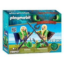 Playmobil Playmobil - Schorrie en Morrie in vliegpak (70042)