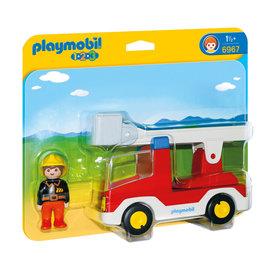 Playmobil Playmobil - 123 Brandweerwagen met ladder (6967)