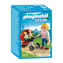 Playmobil Playmobil - Tweeling kinderwagen (5573)