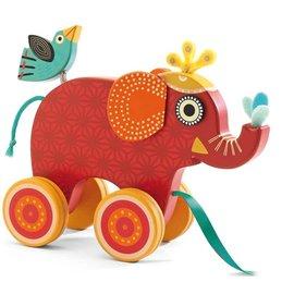 Djeco Djeco 6231 Trekfiguur - Indy olifant