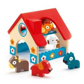 Djeco Djeco 6388 Houten mini boerderij + dieren