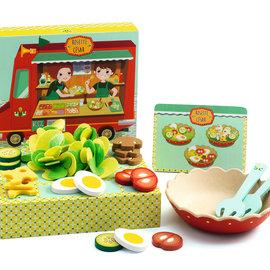 Djeco Djeco 6536 Rollenspel - Rosette en Cesar's houten salade set