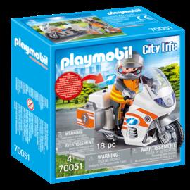 Playmobil Playmobil - Spoedarts op motor (70051)
