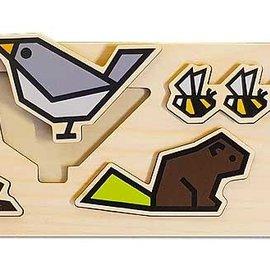 Cubey houten puzzel - Tuin