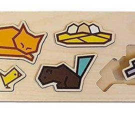 Cubey houten puzzel - Boerderij