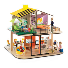 Djeco Djeco 7803 Poppenhuis - Kleur huis