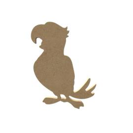 Gomille MDF figuur - Papegaai (15 cm)