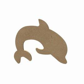 Gomille MDF figuur - Dolfijn (15 cm)