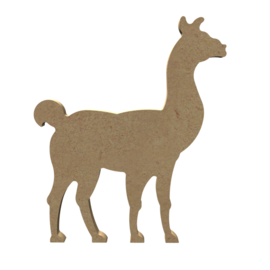 Gomille MDF figuur - Lama  (15 cm)