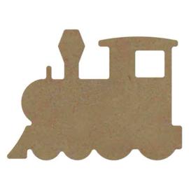 Gomille MDF figuur - Locomotief (15 cm)
