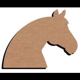 Gomille MDF figuur - Paardenhoofd (15 cm)