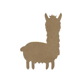 Gomille MDF figuur - Alpaca  (15 cm)
