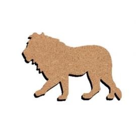 Gomille MDF figuur - Leeuw (15 cm)