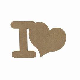 Gomille MDF figuur - I Love (15 cm)