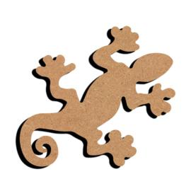 Gomille MDF figuur - Gecko (15 cm)
