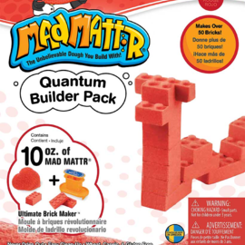 MadMattr MadMattr Quantum Builder Pack rood + blokkenmaker (incl. 283 gr. klei)