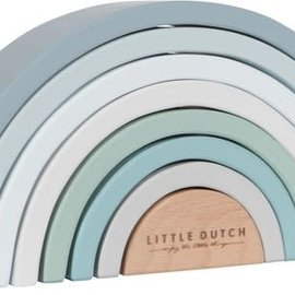 Little Dutch Little Dutch Stapel Rainbow blauw