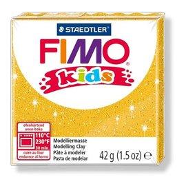 FIMO Fimo kids boetseerklei 42 g glitter goud